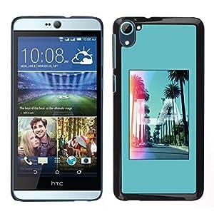 "Pulsar Snap-on Series Teléfono Carcasa Funda Case Caso para HTC Desire D826 , Los Angeles California Hollywood"""