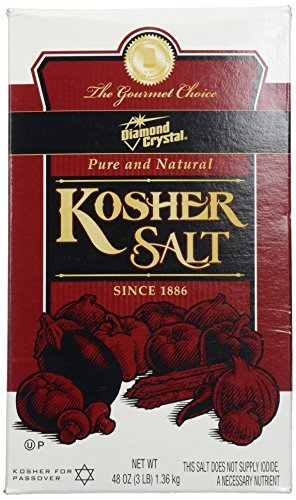 Diamond Crystal Kosher Salt, 3 lbs (Pack of 12) by Diamond