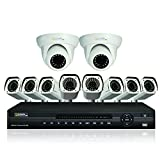 Q-See QC9016-10V1-2 16-Channel AnalogHD DVR with 2TB Hard Drive and 10 HD 720p AnalogHD Cameras (White)
