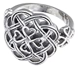 Ashling Aine Eternity Love knot Celtic Shamrock Cross Ring (10)