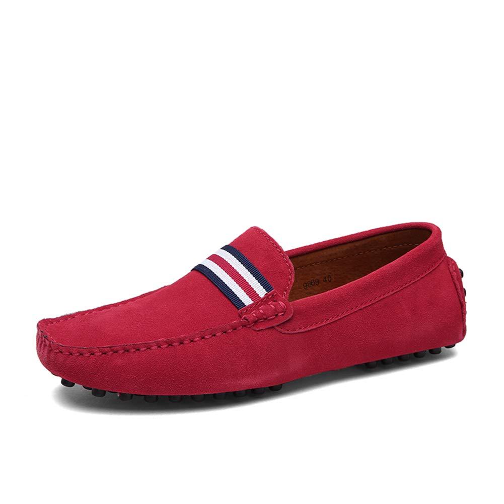 GPF-fei Men ' S Lederschuh, Fall Spring Komfort-Wanderschuh Fashion Loafers & Slip-One Soft Flat schuhe Leichtbauschuh Leichtbau Schuhe,rot,39