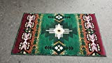 Southwest Native American Indian Hunter Green Area Rug Design #CR587 (24 Inch X 40 Inch Mat)