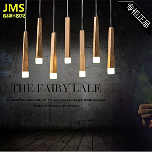 Wooden Stick Pendant Light in US - 8