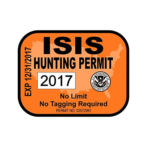 isis hunting permit sticker decal