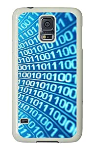 Samsung Galaxy S5 Case Cover - Numbers Hard Case Cover For Samsung Galaxy S5 - PC White