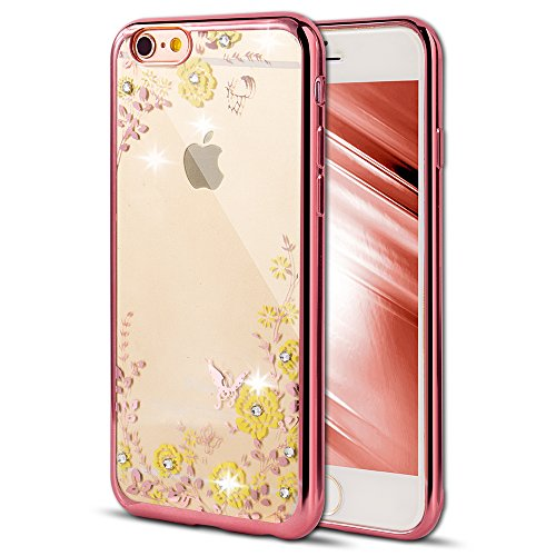 - Case for iPhone 5S iPhone 5 Cover EMAXELER Bling Swarovski Crystal Rhinestone iPhone SE Case Plating Frame Flexible TPU Case for iPhone 5/5S & iPhone SE [Rose] Butterfly & Yellow Flowers