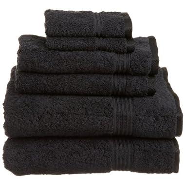 Superior Egyptian Cotton 6-Piece Towel Set, Black