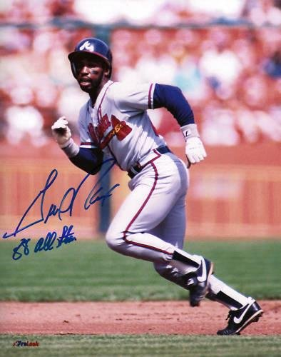 Gerald Perry Autographed Photograph - 88 AL STAR 8x10 - Autographed MLB Photos