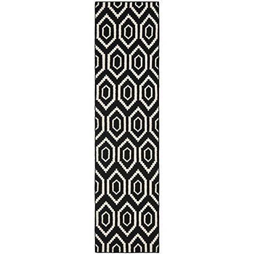 Safavieh Dhurries Collection DHU556L Hand Woven Black and...