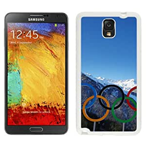 Hot Sale Samsung Galaxy Note 3 Case ,Sochi Olympic Rings White Samsung Galaxy Note 3 Cover Unique And Popular Designed Phone Case