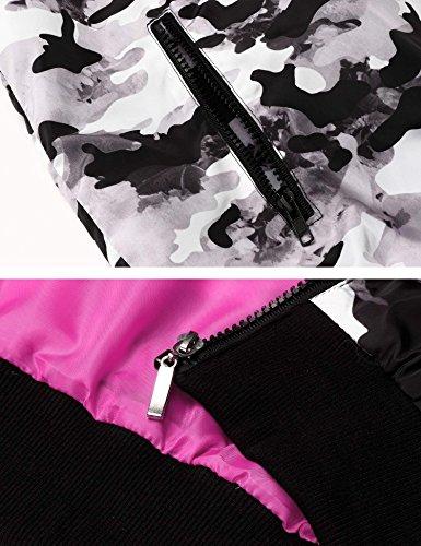 Anorak Rouge Manteau Parka Svelte Cardigan Rose Zearo Manteau Long Outwear Reaso Femmes Veste 7nAYgqT1Fw