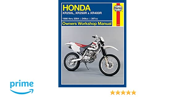 Honda XR250L, XR250R & XR400R 1986 thru 2004: 249cc, 397xx (Owners on