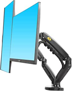 """NB New F160 Dual Monitor Full Motion Desk Mount with Gas Spring for Two Computer Monitors 17'' - 30"""" LED LCD Flat Panel TVs from 2kg to 9kg per arm."""