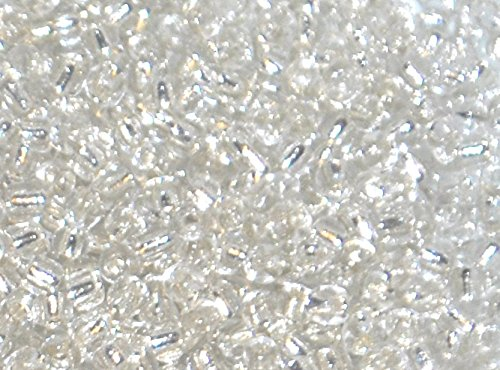 Markylis 30g Glass Silver LIned Seed Jewellery Crafts Beads 2mm Silver // Clear