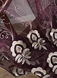 Simbra European Style Sheer Curtain Flower