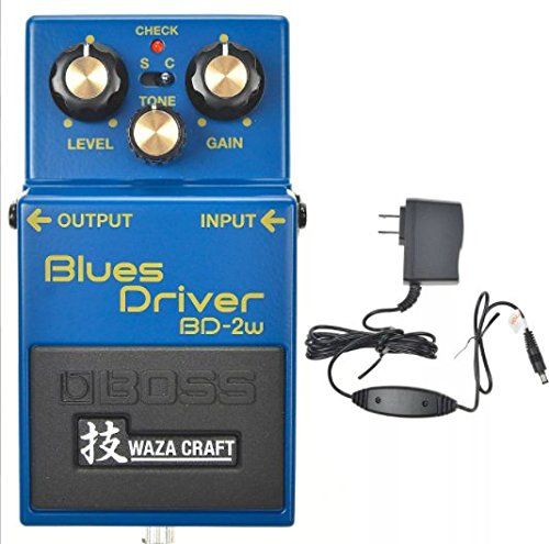 Boss BD-2W Blues Driver Waza Craft Analog Pedal and Boss PSA-120S2 Power Supply