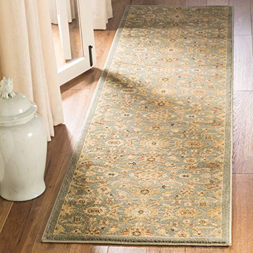 - Safavieh Heirloom Collection HLM1671-6520 Traditional Vintage Blue and Gold Area Rug (2'6