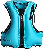 Adult Portable Inflatable Float Vest,Swim Best,Life Jackets, Life Vest,Safe Vest,Snorkel Vest,Snorkeling, Fish