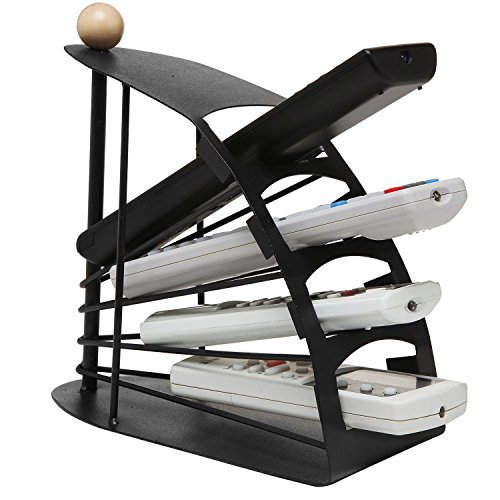 House of Quirk Remote Control Storage Organizer 4 Slot Stand, Metal REMOTE CONTROL ORGANIZER CADDY