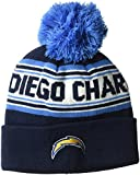 #9: NFL Youth Boys Jacquard Cuffed Knit Hat with Pom