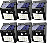 Solar Lights Outdoor, Motion Sensor Light 8 LED Flood Lights for Home Security, Patio, Wall, Pathway, Garden, Yard |Bright Waterproof Dusk to Dawn Lighting (6-Pack) (Pin Activation) Review