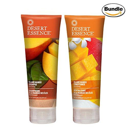 Desert Essence Island Mango Shampoo and Conditioner Bundle - 8 fl oz - Essence Grape Dessert