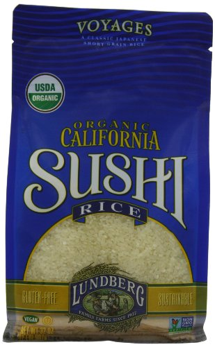 Lundberg Organic Sushi Rice, California White, 32 Ounce