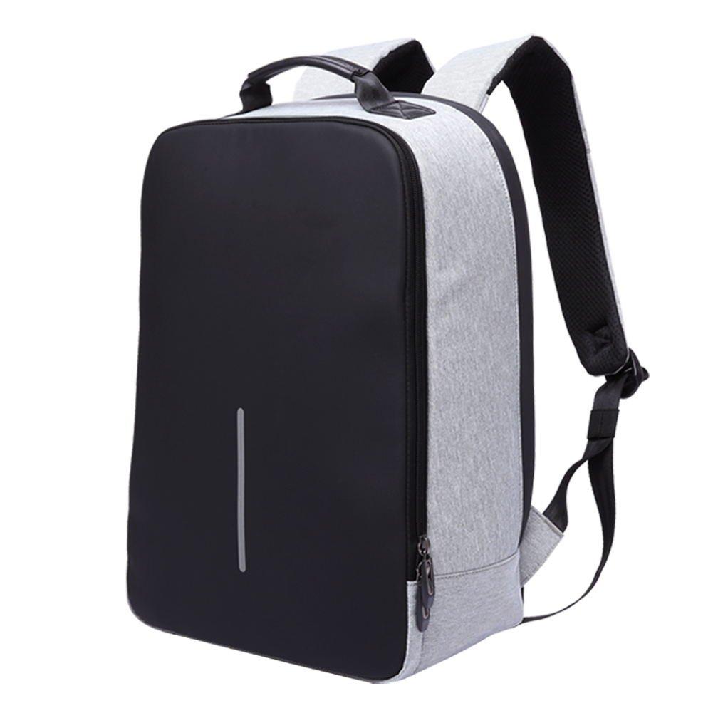 Petfu Zaino Antifurto Laptop Backpack Business Zaini Impermeabili da Viaggio Casual Daypacks per Uomo e Donna, Grigio