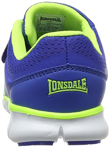 Lonsdale Lima, Zapatillas Deportivas Para Interior Para Niños Azul (Blue/lime)