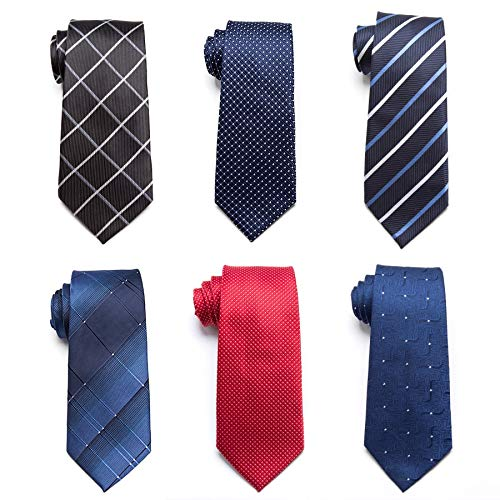 Amazon.com: Gold Happy 20 Style Formal Ties Business Vestidos Wedding Classic Mens tie Stripe Grid 8cm corbatas Dress Fashion Accessories Men Necktie: ...