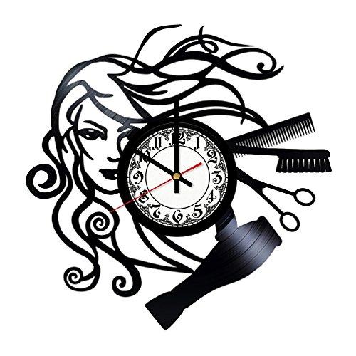 Beauty Salon Hair Style Design HANDMADE Vinyl Record Wall Clock - Home Decor - Wall Decor - Wall Art - Gift Ideas