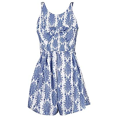 LUKYCILD Women Sexy Strap Backless Summer Beach Party Romper Jumpsuit: Clothing