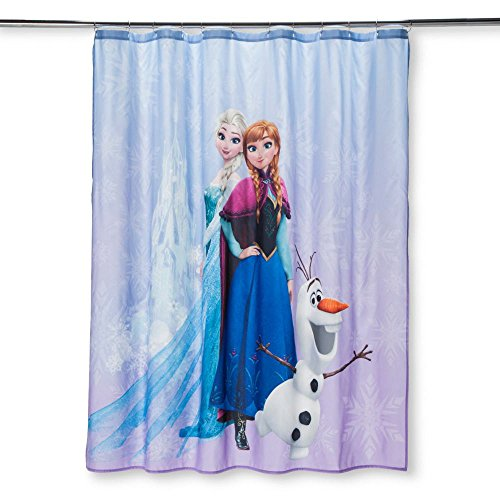 DS Frozen Purple Shower Curtain (Bathroom Disney Frozen)