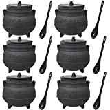 (Set/6) Harry Potter Licensed Ceramic Cauldron 20oz Soup Mugs w/ Lid & Spoon