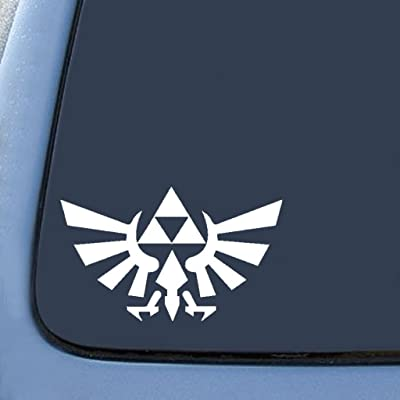 "Legend of Zelda Triforce - 6"" White - Car, Truck, Notebook, Vinyl Decal Sticker… 