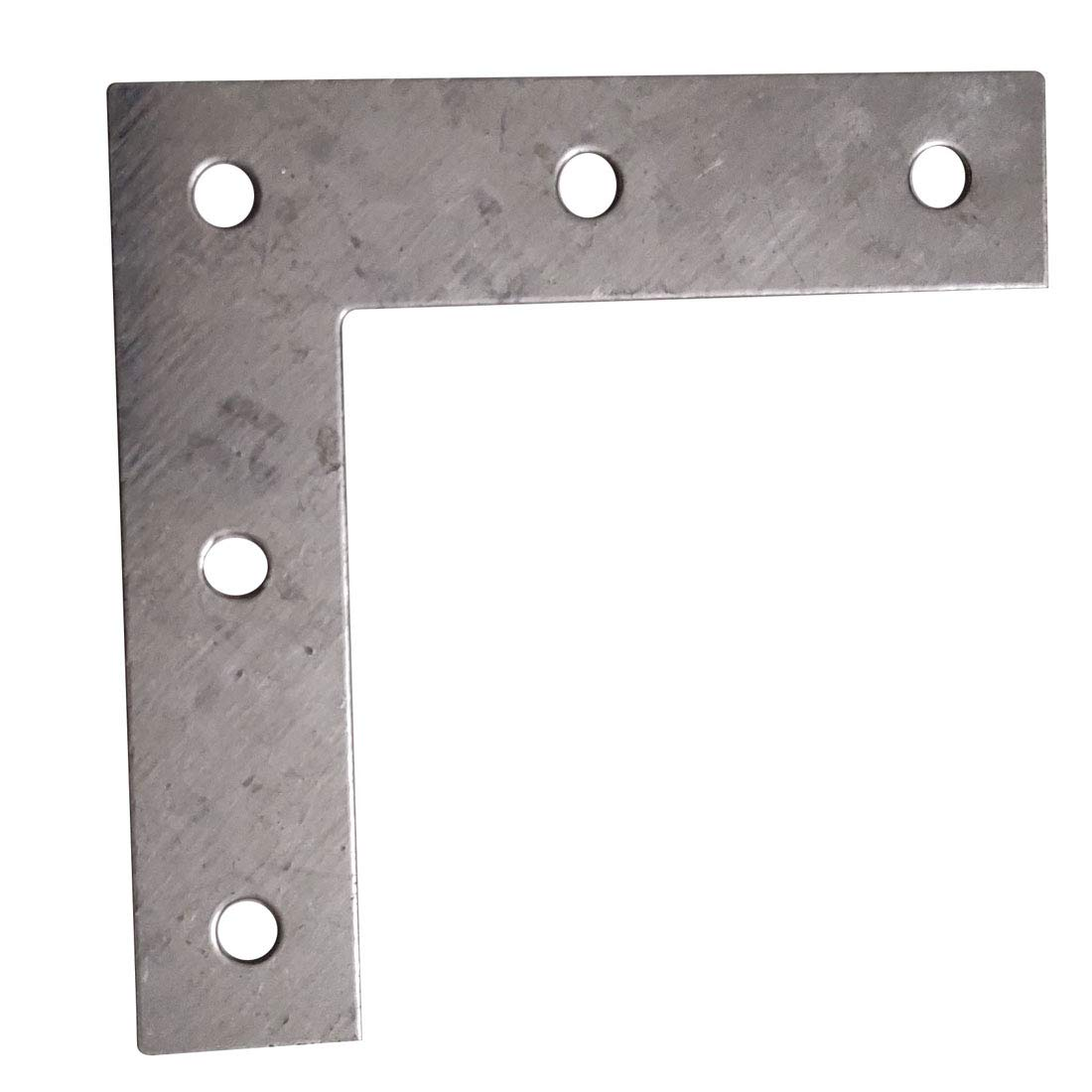 Sipery 4inch Flat Plated Corner Braces Bracket 90 Degree Joint Right Angle Bracket Fastener L Type 0.8mm Thickness 20Pcs for Repairing Wood Furniture Foshanshisipulaimaoyiyouxiangongsi