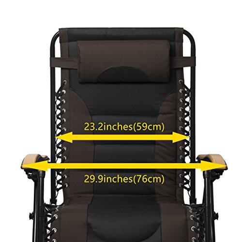 Luckyberry Zero Gravity Chair Oversized Lounge Patio