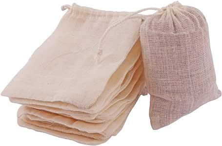 "- Cotton Drawstring Muslin Bags, 2.75"" X 4"" - Pack of 50"