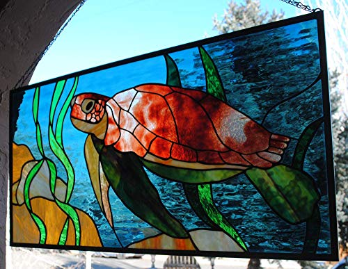 - Stained Glass Window Large Sea Turtle