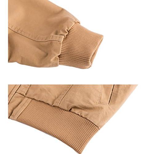 146adda741 WULFUL Men's Cotton Military Jackets Casual Outdoor Coat Windbreaker Jacket