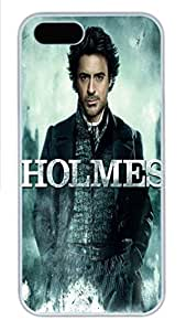 For Iphone 5C Phone Case Cover Sherlock Holmes Robert Downey Jr PC Hard Plastic For Iphone 5C Phone Case Cover White