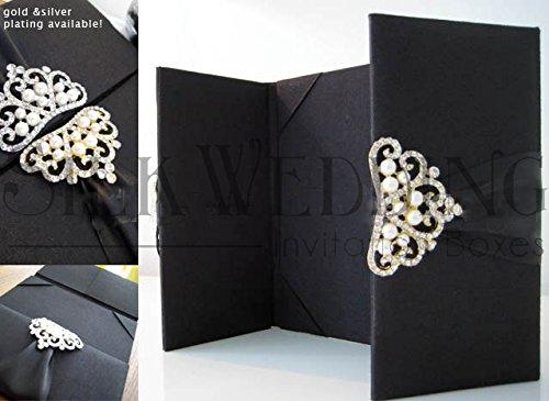 Elegant Wedding Silk Invitation (Silk Box Wedding Invitations)