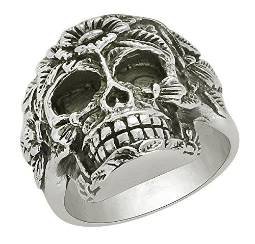 Banithani 925 bague concepteur crâne argent bijoux unisexe