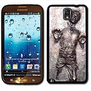 Samsung Galaxy Note 3 Black Rubber Silicone Case - Han Solo Frozen in Carbonite