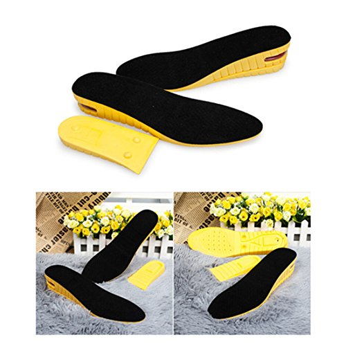 Kalevel 2 Layer Height Increase Insole Increasing Inserts Shoe Height Lift Taller Insoles Heel Elevation Cushion 2 Inch Heel Shoe lifts Insert Breathable for Men (Size 7-10, 2 Inch)