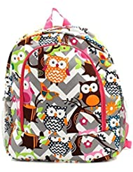 Owl Chevron Backpack