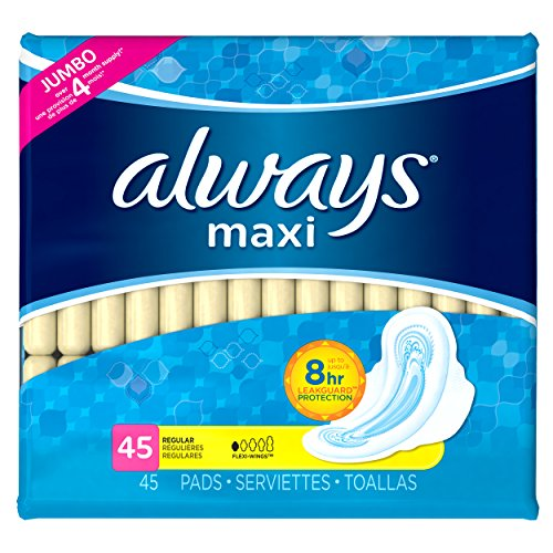 always-maxi-pads-regular-with-flexi-wings-unscented-45-count