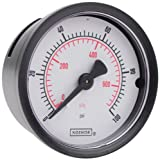 NOSHOK 100 Series ABS Dual Scale Dial Indicating Pressure Gauge with Back Mount, 1-1/2