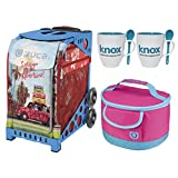 Zuca Road Trip Sport Insert Bag with Zuca Frame, Matching Lunch box and 2 Coffee Mugs(Blue Frame)