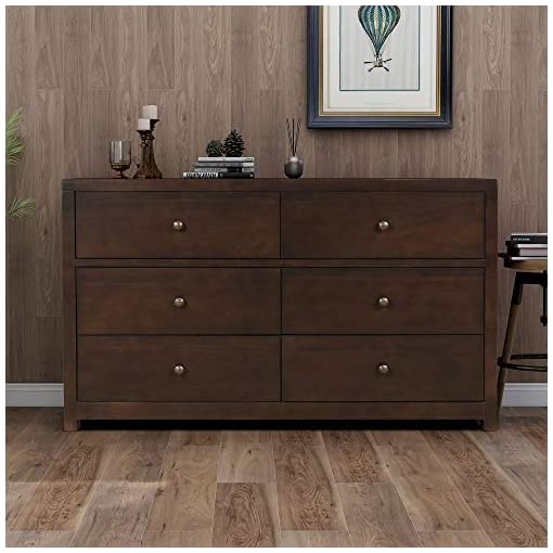 Bedroom SOFTSEA 6 Pieces Bedroom Furniture Set, Matching Wood Queen Platform Bed, Dresser, 5 Drawer Chest, Mirror & 2… modern bedroom furniture sets